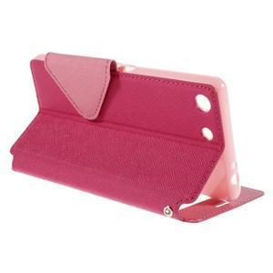 Diary puzdro s okienkom na Sony Xperia M5 - rose - 6