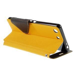 Diary puzdro s okienkom na Sony Xperia M5 - žlté - 6