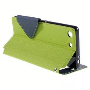 Diary pouzdro s okýnkem na Sony Xperia M5 - zelené - 6