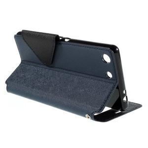 Diary pouzdro s okýnkem na Sony Xperia M5 - tmavěmodré - 6