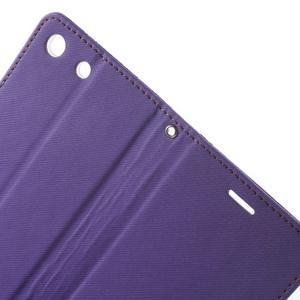 Wall PU kožené pouzdro na mobil Sony Xperia M5 - fialové - 6