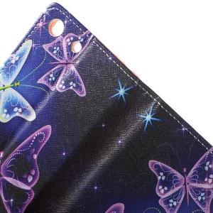 Stand peněženkové pouzdro na Sony Xperia M5 - magičtí motýlci - 6