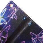 Stand peněženkové pouzdro na Sony Xperia M5 - magičtí motýlci - 6/7