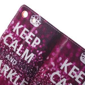 Stand Peňaženkové puzdro pre Sony Xperia M5 - Keep Calm - 6