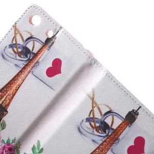 Stand Peňaženkové puzdro pre Sony Xperia M5 - ruže s Eiffelovou vežaí - 6