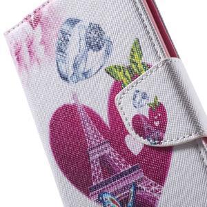 Stand peněženkové pouzdro na Sony Xperia M5 - láska Eiffelka - 6