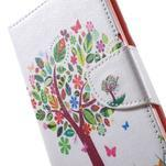 Stand peněženkové pouzdro na Sony Xperia M5 - květinový strom - 6/7