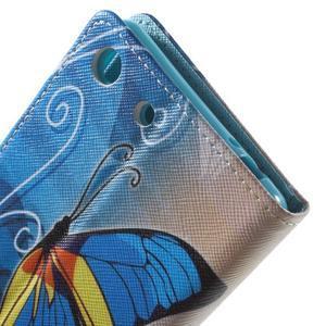 Stand peněženkové pouzdro na Sony Xperia M5 - motýlek - 6