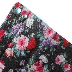 Stand Peňaženkové puzdro pre Sony Xperia M5 - kvitnúce ruže - 6