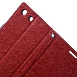 Goos PU kožené penženkové pouzdro na Sony Xperia M5 - červené - 6
