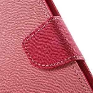 Goos PU kožené penženkové pouzdro na Sony Xperia M5 - růžové - 6