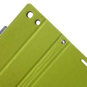 Goos PU kožené peňaženkové puzdro pre Sony Xperia M5 - zelené - 6