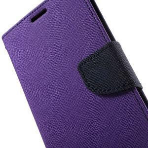Goos PU kožené peňaženkové puzdro pre Sony Xperia M5 - fialové - 6