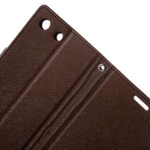 Goos PU kožené peňaženkové puzdro pre Sony Xperia M5 - hnedé - 6
