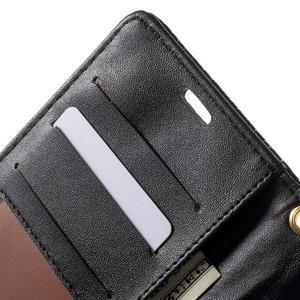 Croco Peňaženkové puzdro pre mobil Sony Xperia M5 - čierne - 6