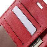 Croco peněženkové pouzdro na mobil Sony Xperia M5 - červené - 6/7