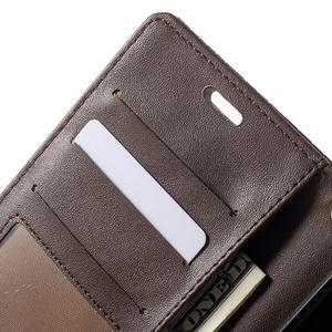 Croco Peňaženkové puzdro pre mobil Sony Xperia M5 - coffee - 6