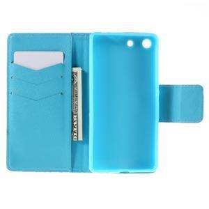 Crafty Peňaženkové puzdro pre Sony Xperia M5 - modrý slon - 6