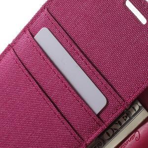 Canvas PU kožené / textilní pouzdro na Sony Xperia M5 - rose - 6