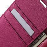 Canvas PU kožené / textilné puzdro pre Sony Xperia M5 - rose - 6/7
