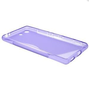 S-line gélový obal pre mobil Sony Xperia M5 - fialové - 6
