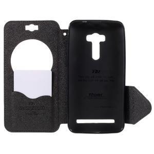 Peňaženkové puzdro s okienkom pre Asus Zenfone Selfie ZD551KL - čierné - 6