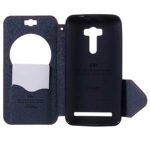Peňaženkové puzdro s okýnkem na Asus Zenfone Selfie ZD551KL - oranžové - 6