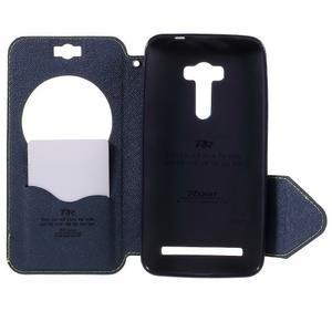 Peňaženkové puzdro s okienkom pre Asus Zenfone Selfie ZD551KL - zelené - 6