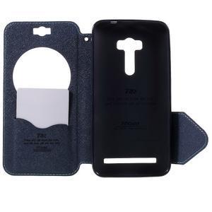 Peňaženkové puzdro s okienkom pre Asus Zenfone Selfie ZD551KL - svetlo modré - 6