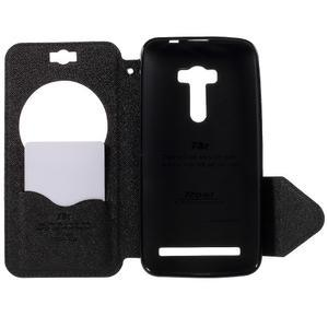 Peňaženkové puzdro s okýnkem na Asus Zenfone Selfie ZD551KL - tmavo modré - 6