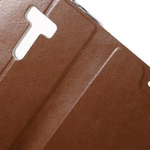 Horse peňaženkové puzdro na Asus Zenfone Selfie ZD551KL - hnedé - 6