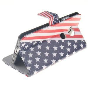 Peňaženkové puzdro pro mobil Honor 5X - US vlajka - 6