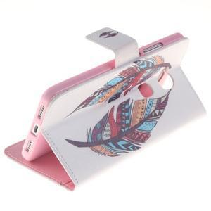 Peněženkové pouzdro pro mobil Honor 5X - barevná peříčka - 6