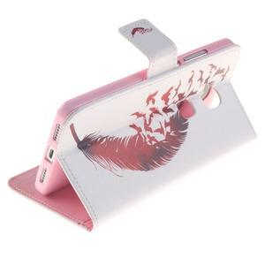 Peňaženkové puzdro pro mobil Honor 5X - vtačie pierko - 6