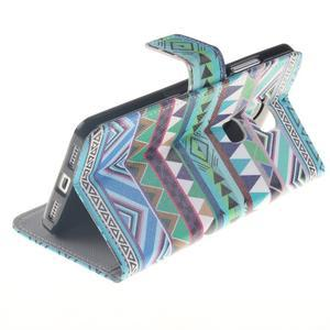 Peňaženkové puzdro pro mobil Honor 5X - geo tvary - 6