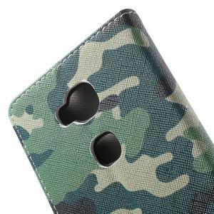 Emotive PU kožené pouzdro na mobil Honor 5X - maskáčové - 6