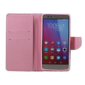 Knížkové puzdro pre mobil Honor 5X - farebná mandala - 6