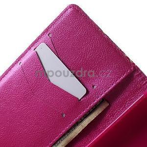 Peňaženkové PU kožené puzdro na Huawei Ascend P8 Lite - srdce - 6