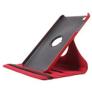 Otočné polohovateľné puzdro na Huawei MediaPad M2 - červené - 6