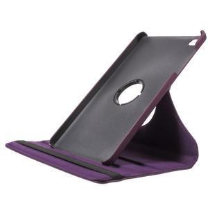 Otočné polohovatelné pouzdro na Huawei MediaPad M2 - fialové - 6