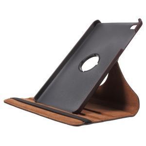 Otočné polohovateľné puzdro na Huawei MediaPad M2 - tmavohnedé - 6