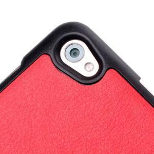 Trifold polohovatelné puzdro na tablet Huawei MediaPad M2 8.0 - červené - 6