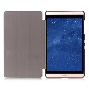 Trifold polohovatelné puzdro na tablet Huawei MediaPad M2 8.0 - tmavo modré - 6