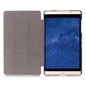Trifold polohovateľné puzdro na tablet Huawei MediaPad M2 8.0 - fialové - 6