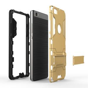Odolný ochranný kryt na Huawei P8 Lite - zlatý - 6