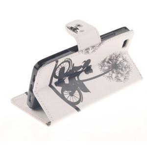 Leathy PU kožené puzdro na Huawei P8 Lite - láska na bicykli - 6