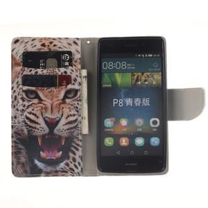 Leathy PU kožené pouzdro na Huawei P8 Lite - leopard - 6