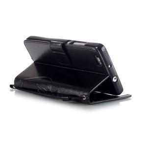 Magicfly PU kožené puzdro na Huawei P8 Lite - čierne - 6