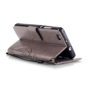 Magicfly PU kožené puzdro na Huawei P8 Lite - sivé - 6