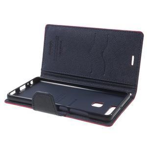 Diary PU kožené pouzdro na mobil Huawei P9 - rose - 6